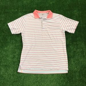 Peter Millar Performance Striped Golf Polo Shirt